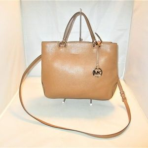 Michael Kors Anabelle Large Leather Top Zip Tote